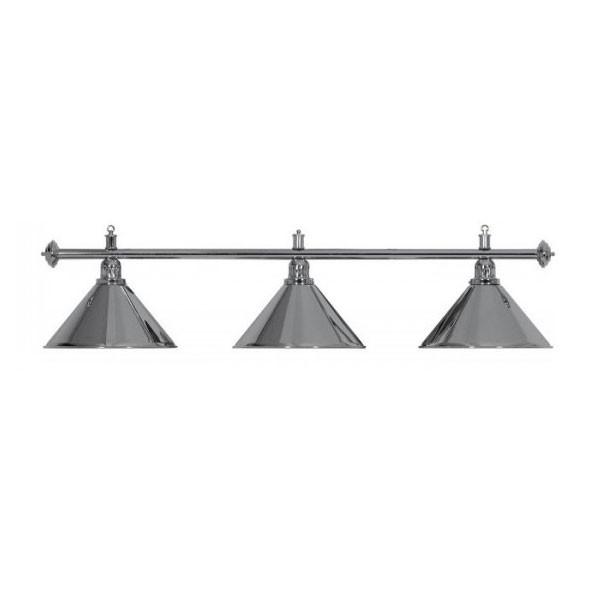 Lampadario 3 campane argento