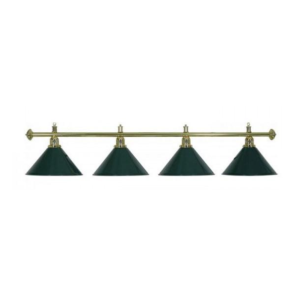 Lampadario a 4 campane verde